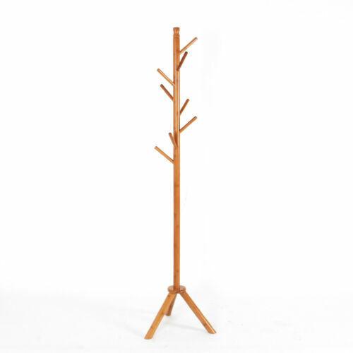 Bamboo Wood Coat & Hat Racks Hooks Hall Hangers Clothes Scarves umbrella holder