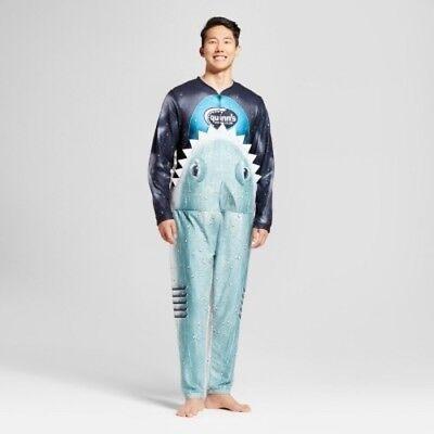 Scuba Diver Costume (NWT SHARK eating SCUBA DIVER Union Suit Costume Pajama Men's Shark Week)