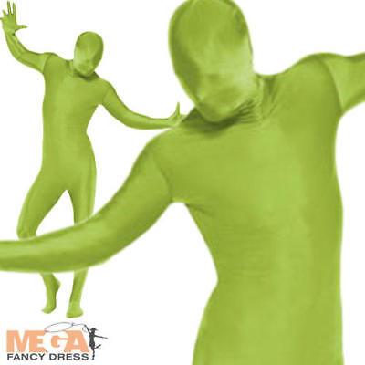 Green 2nd Skin Bodysuit Adult Fancy Dress Morph Suit Mens Ladies Novelty Costume](Green Morph Suit)