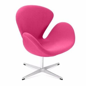 Arne Jacobsen Inspired Swivel Swan Chair In Beautiful Pink - VOGA