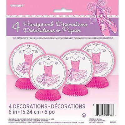 COMB DECORATIONS (4) ~ Birthday Party Supplies Centerpiece (Ballerina Birthday Party Supplies)