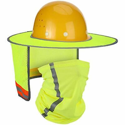 2 Pieces Hard Hat Sunshade Neck Protection High Visibility Sun Neck Shield Full