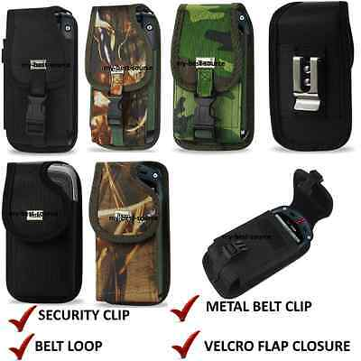 Fitted Rugged Phone Case Metal Belt Clip Holster Pouch Fo...