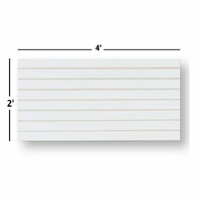 Slatwall Easy Panels Set Of 2 Pieces 2 H X 4 W White Free Shipping