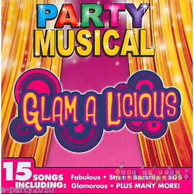 Birthday Party Songs Cd - GLAM A LICIOUS Party SONGS Musical CD ~ Birthday Party Supplies Dancing SHEENA