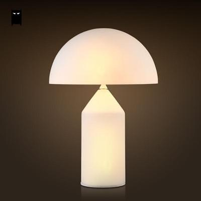 Frosted Glass Mushroom Table Lamp Fixture Nordic Desk Light Night Stand Bedroom