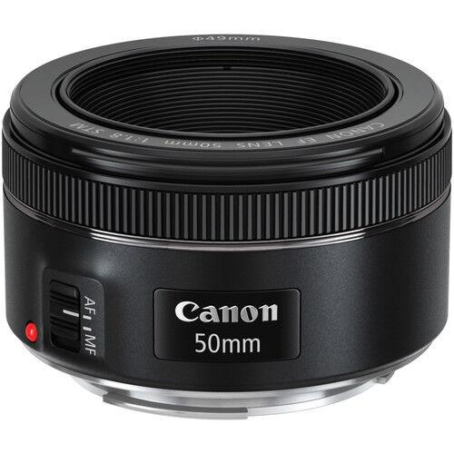Canon EF 50mm f/1.8 STM Standard Lens Black 0570C002