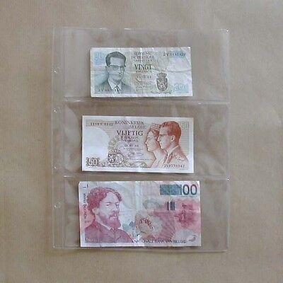 25 bladen voor bankbiljetten - 25 feuilles pour billets de banque - format FDC