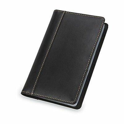 Samsill Unisex Contrast Stitch Leather Business Card Holder Organizer Book Hold