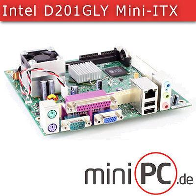 Intel D201GLY Mini-ITX Mainboard (mit Celeron 1.33Ghz CPU) [ohne Zubehör]
