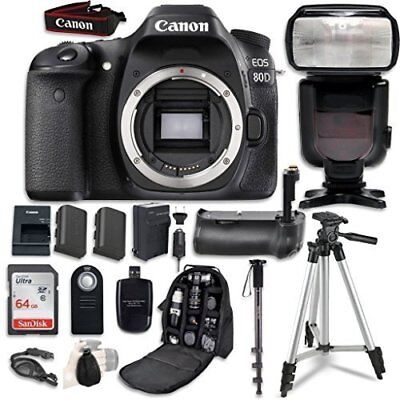 Canon EOS 80D Digital SLR Camera Bundle  with Professional
