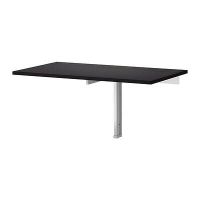 BJURSTA WALL MOUNTED DROP LEAF TABLE SHELF FOLDABLE KITCHEN DESK (Ikea Bjursta Wall Mounted Drop Leaf Table)