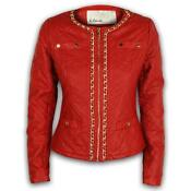 Womens Leather Look Jacket
