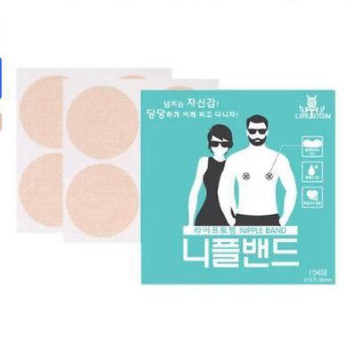 39mm Nipple Band Cover Sticker Men Women Gentle Patch Pad Hide 104Pcs X 10 box