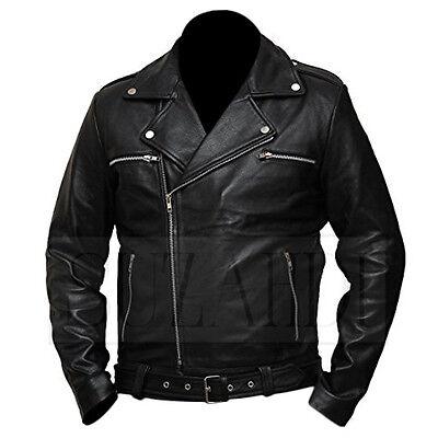 organ The Walking Dead Black Leather Jacket MadeToOrder (Dean Kostüm)