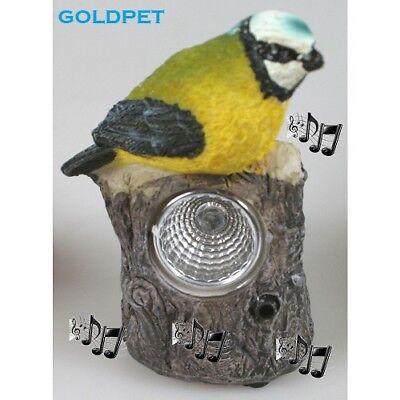 Solar Leuchte Vogel Keramik,Vogel pfeifen Sensor + Licht Solar pfeifen