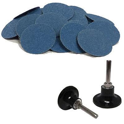 50 - 3 Roloc Zirconia Quick Change Sanding Disc 120 Grit And Mandrel