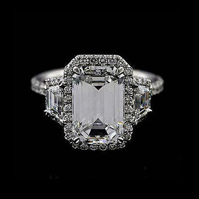 Platinum Micro Pave Cut Down Diamond Engagement Ring Mounting ()