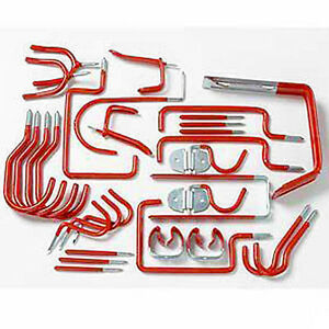 30 PIECE HOOK SET GARAGE SHED TOOLS STORAGE HANGING HOOKS