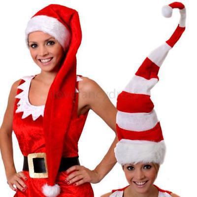 HOHER  SANTA HUT MÜTZE ELF -AUSWAHL VATER WEIHNACHTEN FRAU CLAUS KOSTÜM WEIHNACH (Santa, Elf Hut)