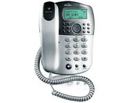 Binatone Corded Telephone with Answering Machine in Silver