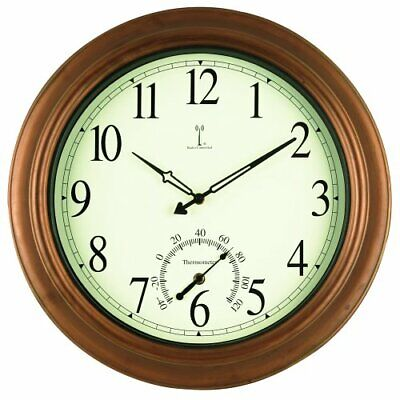 AcuRite 50314 18-Inch Metal Indoor/Outdoor Atomic Clock and