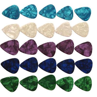 200* Acoustic Electric Guitar Bass Picks Plectrums Custom Mix Colors 0.71mm Acoustic Bass Guitar Picks