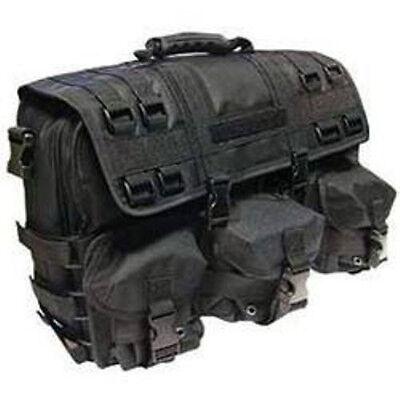 Computer Field Bag - Black MOLLE Tactical Military Laptop Computer Field Briefcase Shoulder Bag Case
