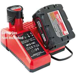 MILWAUKEE 18V 12V M18 & M12 BATTERY CHARGER 240V C12C C18C C1418C M12-18C M1218C