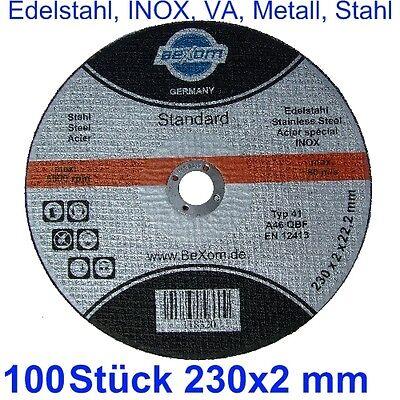 Disco de Corte 230 X 2mm 100 Pieza 230x2 para Metal Acero...