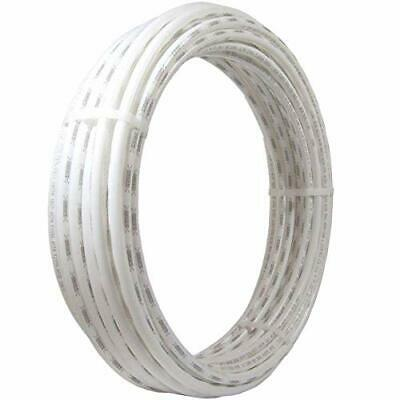 White, PEX Pipe 1/2 Inch, Flexible Tube, Potable Water, Push-to-Connect Plumbing