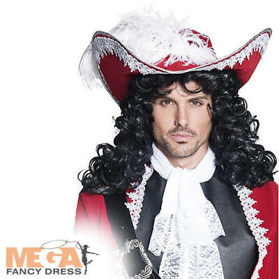 Adults Fancy Dress Captain Hook Mens Costume Accessory New (Captain Hook Hat)