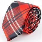 Red Black Plaid Tie