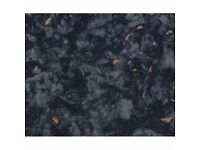 kitchen worktops (38mm) 3m in black stone effect (other colours available) all worktops end of line