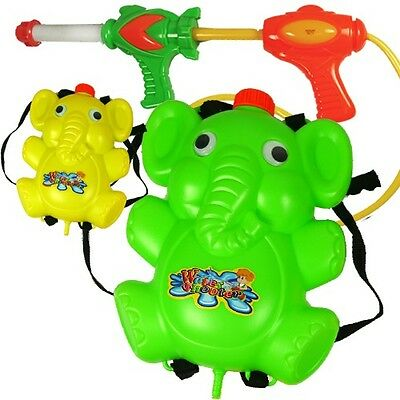 Water Gun Backpack Elephant Squirt Pool Toy Soaker Beac Blaster (LOT OF 10X)