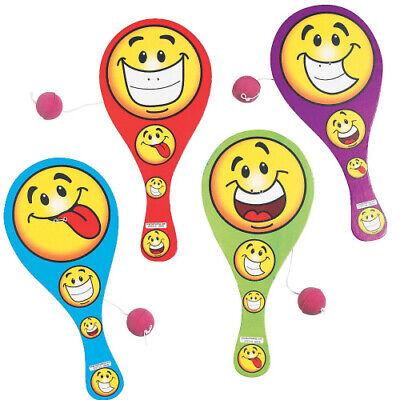 6x Paddleball lustige Smiley Emoji Gesichter Geschicklichkeit Geburtstag Strand