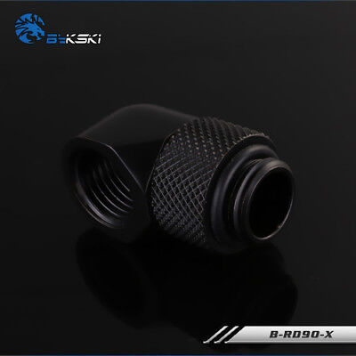 Cooling Tube - 90 Degree Angle G1/4 Thread Rotary Fitting Block Hard TUBE water cooling Black