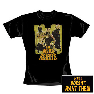 ROB ZOMBIE - Hell doesn´t want them - Girlie Girl Shirt - Größe Size L - Neu