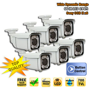 Best Deal GW 6x 700TVL Sony CCD IR LED Outdoor CCTV Security Camera Free AC