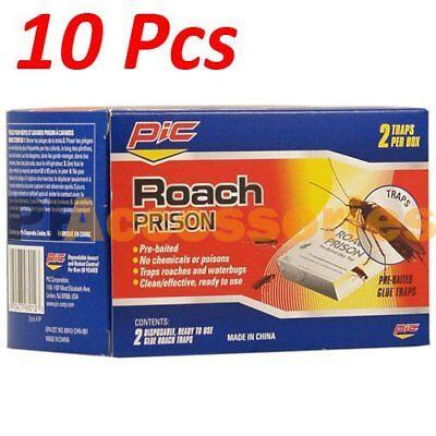 10 Pcs Pest Control Disposable Roach Glue Traps for Ant Roac