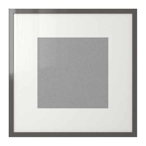 set of 3 ikea ribba grey picture frames 50x50 in luton. Black Bedroom Furniture Sets. Home Design Ideas