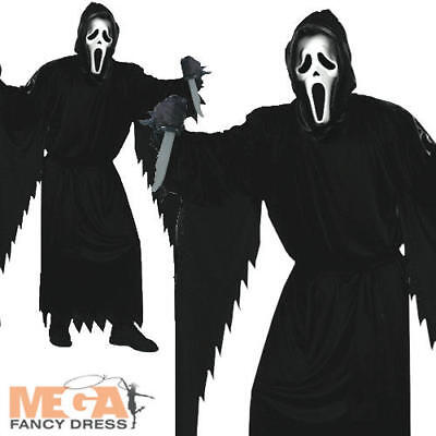 Horror Movie Halloween Outfits (Official Scream Horror Movie Mens Halloween Fancy Dress Adult Costume Outfit)