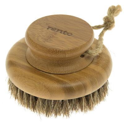 Spazzola sauna-bürste Pennello CORPO scopino bambù con setole TONDO Ø9 , 5cm