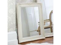 New Large 3x4 ft cream / ivory wood frame mirror HALF PRICE £69