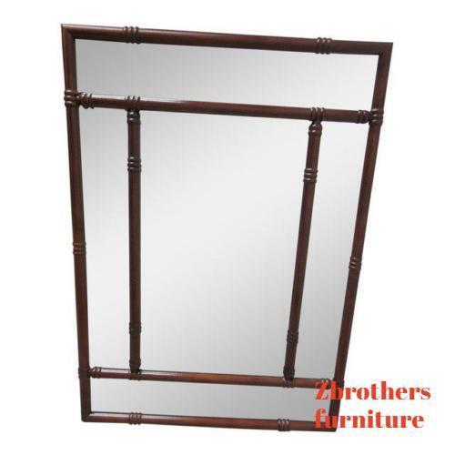 Bombay Company Mahogany Faux Bamboo Hanging Dresser Wall Foyer Mirror