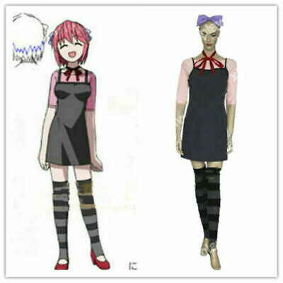 Hot! Elfen Lied Lucy Dress Full Set Cosplay Costume Halloween Free Shipping、