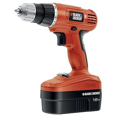 Black & Decker 18V Cordless Drill/Driver with 10 Accessories - GCO1800-10 on Rummage