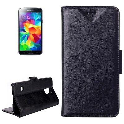 Samsung Galaxy S5 Mini G800 G800F - Housse Etui à Clapet Folio Flip Cover - Noir