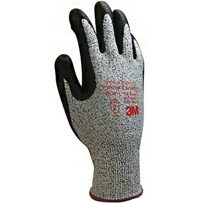 3M Cut Level-5 Safety Gloves Protection Nitrile Foam 553 Gloves (2 Pairs) M i