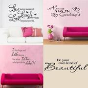 Removable Wall Stickers Quotes